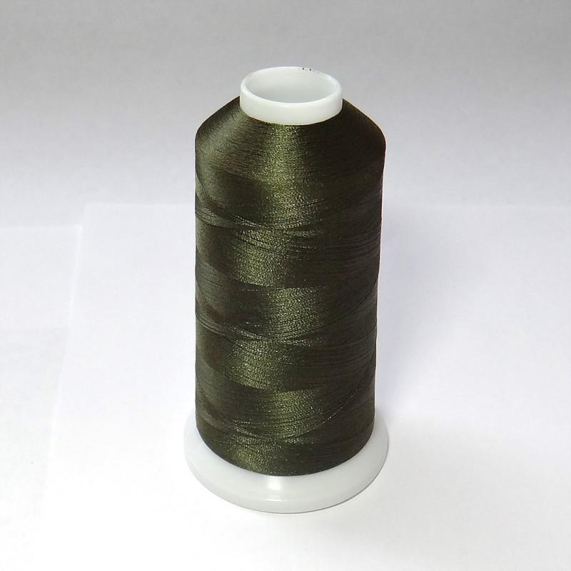 Нитки для вышивки полиэстер цвет хаки 2983.