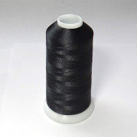 Нитки для вышивки полиэстер цвет черный 2170
