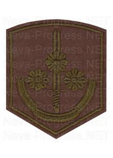 Шеврон 35-я Краснознаменная общевойсковая армия, Амурская область, г.Белогорск (полевая форма одежды)