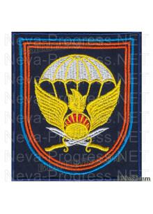 Шеврон 11-я отдельная гвардейская десантно-штурмовая бригада г.Улан-Удэ (темно-синий, оливковый фон)