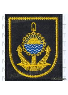 Шеврон Тихоокеанский флот (черный фон, желтый кант)