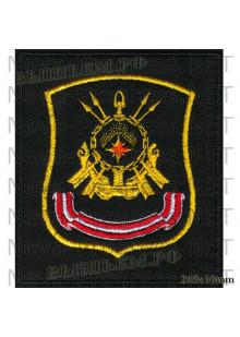 Шеврон 31 дивизия атомных подводных лодок город Мурманск(Гаджиево) на черном сукне для повседневной формы