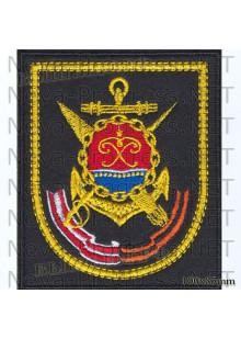 Шеврон 36 бригада ракетных катеров Балтийского Флота, г.Балтийск на черном сукне для повседневной формы