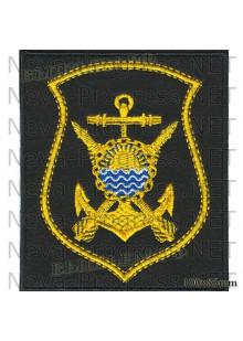 Шеврон 36 дивизия надводных кораблей Тихоокеанского флота в/ч 20293 (Приморский край, Владивосток) на черном сукне для повседневной формы
