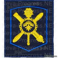 Шеврон 45 армия ВВС и ПВО г.Мурманск (темно-синий, оливковый фон)