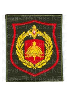 Шеврон 5-я Краснознаменная общевойсковая армия Восточного округа (на оливковом фоне)