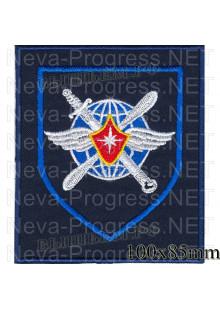 Шеврон  708-й гвардейский Керченский Краснознамённый военно-транспортный авиаполк( темно-синий фон, оливковый)