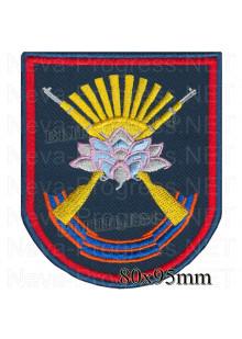Шеврон ЛОТОС  на ткани цвета морской волны (парадная форма)