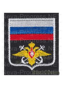 Шеврон Военно морского флота (ВМФ) белый кант, белые якоря