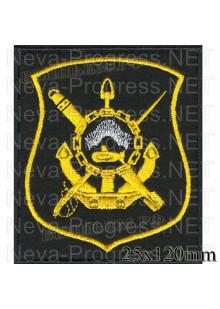 Шеврон  Дивизии подводных лодок г.Мурманск (черный фон)