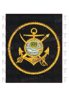 Шеврон Каспийская флотия (г.Махачкала) для повседневной формы на чером сукне