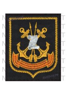 Шеврон 45-й Государственный центральный морской испытательный полигон Военно-морского флота «Нёнокса», в составе Беломорской ВМБ