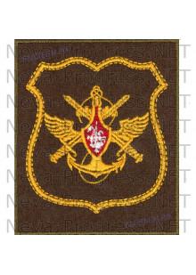 Шеврон Управления Военно Морского Флота (желтый кант) на оливковом сукне для повседневной формы