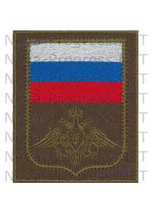 Шеврон Министерства Обороны РФ (цветной флаг и орел защитного цвета)