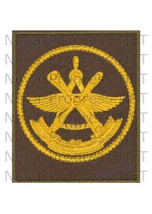 Шеврон 929-й Государственный лётно-испытательный центр Министерства обороны имени В.П.Чкалова, 929 ГЛИЦ ВВС (желтый кант)