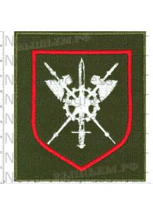 Шеврон 100 сотый отдельный полк обеспечения в\ч 85084 г. Калининец (оливковый фон)