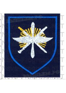 Шеврон 329-й Отдельной смешанной авиационной эскадрильи (329 ОСАЭ) в/ч 13641 «Снежная эскадрилья» аэродром Ключи Камчатская область (темносиний фон)
