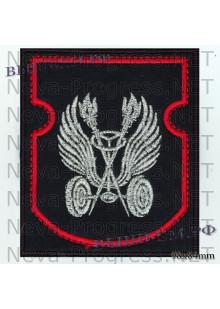 Шеврон  ВАИ ( Военная авто инспекция) черный фон, красный кант