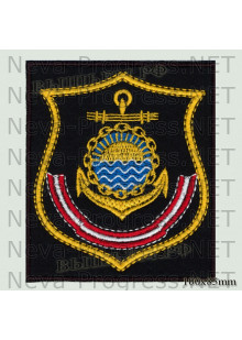 Шеврон Тихоокеанский флот(щит) Камчатка (черный фон, желтый кант)