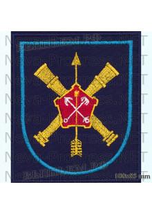 Шеврон 96 отдельная бригада разведки (96 ОБрР) в/ч 52634 Нижний Новгород (темносиний фон, голубой кант)