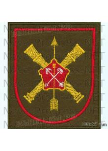 Шеврон 96 отдельная бригада разведки (96 ОБрР) в/ч 52634 Нижний Новгород (оливковый фон, красный кант)