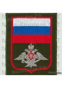 Шеврон Военная Полиция (оливковый фон, красный кант)