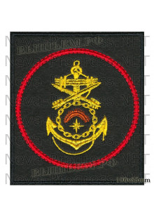 Шеврон 1610-й отдельный береговой ракетный дивизион 536-й отдельной береговой ракетно-артиллерийской бригады Северного флота (черный фон, красный кант)