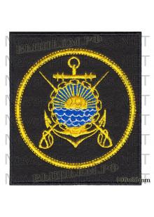 Шеврон Тихоокеанский военно-морской флот России (черный фон, желтый кант)