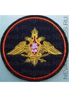 Шеврон Генерального штаба Армии России (Приказ МО РФ № 210 от 28 марта 1997 г.)  черный фон, красный кант