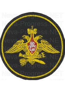 Шеврон Войска противовоздушной и противоракетной обороны Армии России  (Приказ МО РФ № 210 от 28 марта 1997 г.) черный фон, желтый кант